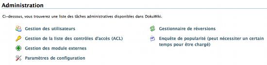 dokuwiki administration DokuWiki : un bon CMS ?