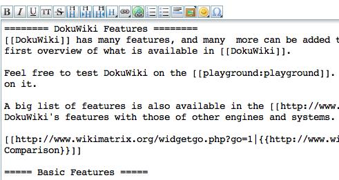 DokuWiki : l'éditeur de pages