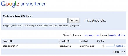 googl accueil url Goo.gl : raccourcir les URL avec Google