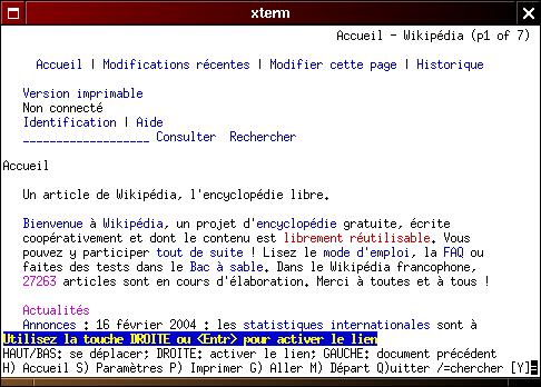 Lynx un navigateur en mode texte