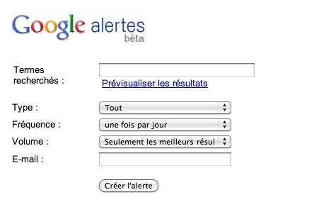 Google Alertes : e-reputation et veille concurrentielle