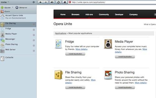 Opera Unite : partager vos fichiers simplement