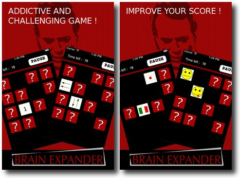 brain expander iphone memoire Jeu de mémoire et de logique IPhone : Brain Expander