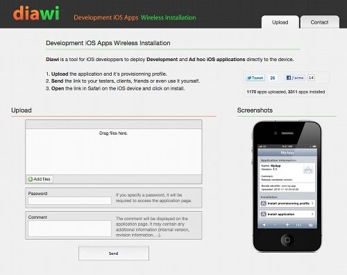Diawi pour distribuer vos applications par Wifi