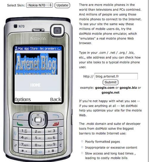 Emulateur de téléphone mobile