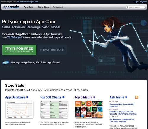 AppAnnie : suivre le classement App Store