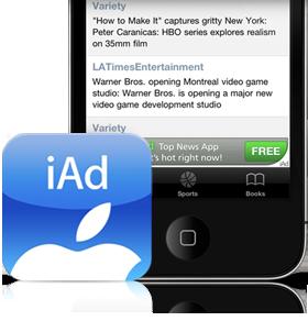 iAd la régie pub d'Apple pour IOS