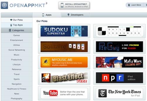 OpenAppMkt : un app store pour webapp