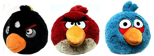 Les peluches Angry Birds