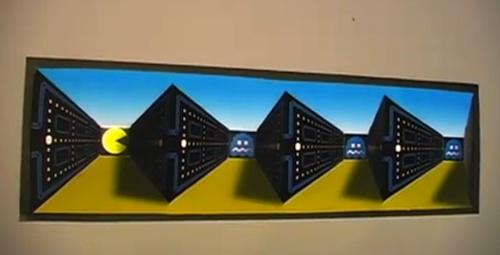 Un poster Pac Man avec illusion d'optique à faire soit-même