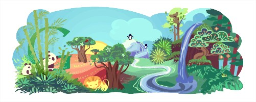Logo google du 22 avril 2011 : Le jour de la Terre