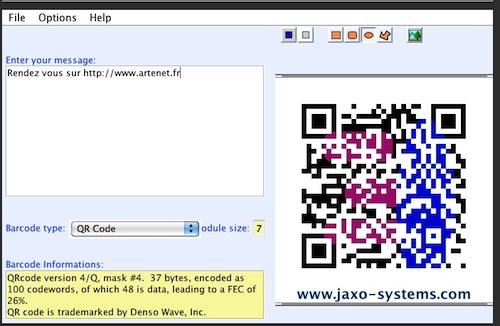 Outil pour faire des QR Code par Jaxo System