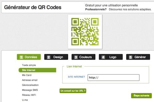 QR Code design avec le site Unitag
