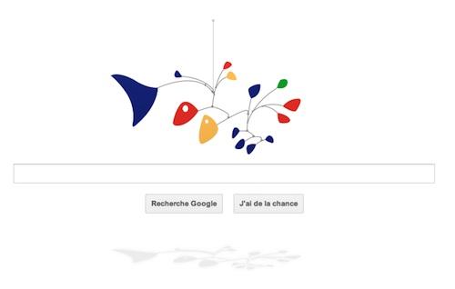 Logo google du 22 juillet 2011 Calder