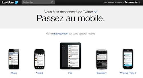 Twitter : nouvelle page d'accueil centrée sur la mobilité