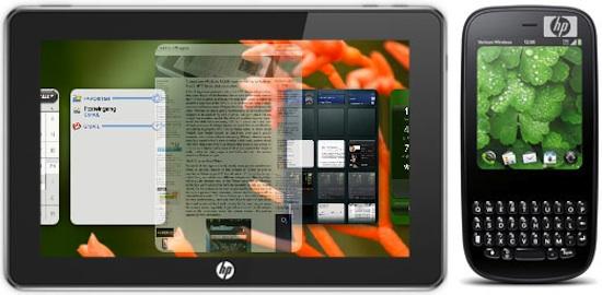 Webos sur smartphone et tablette tactile