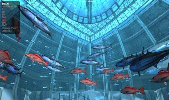 Aquarium avec WebGL