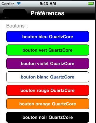 UIButton : couleur de fond avec QuartzCore