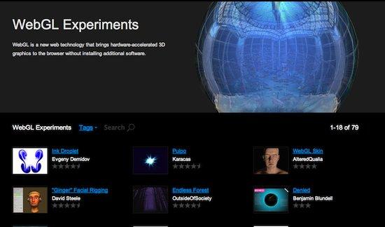 Un site avec de nombreuses démos WebGL