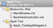 Fichiers XIB pour iPad