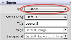 UIButton de type Custom dans Interface Builder