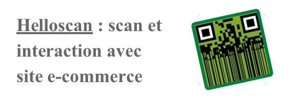 Scan de code et site e-commerce douchette