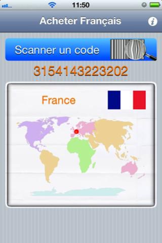 Acheter français Acheter français grâce à votre iPhone