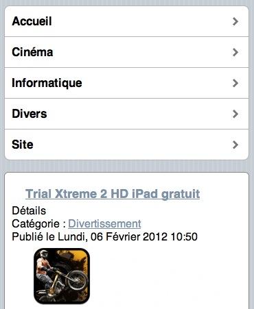 Mobile Joomla sous iPhone !