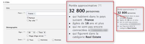 Nombre de profils Facebook dans votre cible