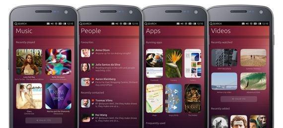 Interface utilisateur de ubuntu pour téléphone mobile
