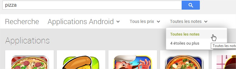 pizza - Applications Android sur Google Play - Google Chrome